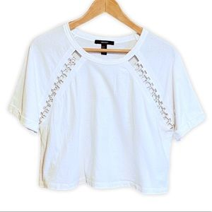 Forever 21 Crop Top T-Shirt w/Ring Detail